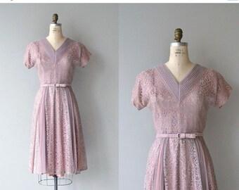 25% OFF.... Latifolia dress | vintage 1950s dress | lace 50s party dress