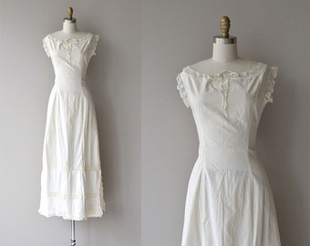 Edwardian cotton under dress | vintage 1910s dress | cotton edwardian lingerie