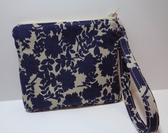 Bag Wristlet Bag Pouch Wallet Clutch Navy Blue Pocketbook Purse