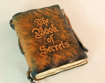 Pocket size Leather Journal. The Book Of Secrets