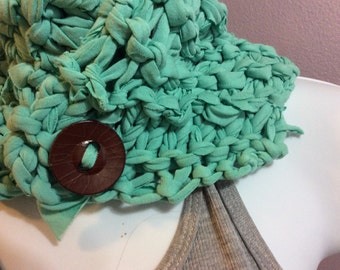 Taste of Teal recycled knits jersey neckwarmer