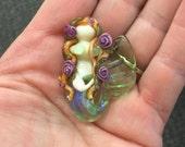 SALE shimmering mermaid Lampwork bead