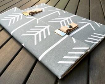 Macbook 12 Case / 13 Macbook Pro Case / 11 Macbook Cover - Arrows Gray
