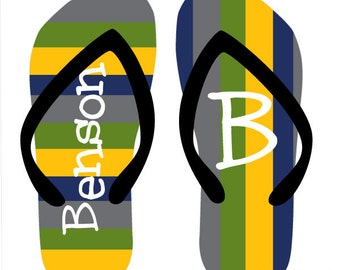 ROUGH N TUMBLE personalized flip flops in adult and kid sizes