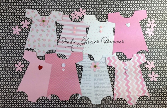 Free Ship Kit Baby Shower Banner Onesie By