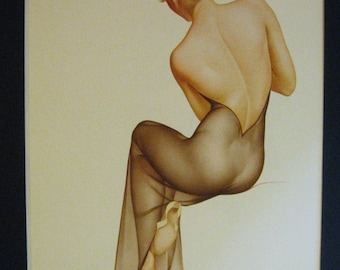 Varga Pinup Girl Print from 1987 Book - Varga The Esquire Years - A Catalogue Raisonne - 9/44
