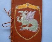 Heraldic Dragon Leather Refillable Journal Blank Book