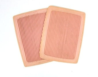 Mid Century Pink Rubbermaid Stove or Counter Mats Retro Hotpads Pair of Vintage Rubber Hot pad Plates Granny Grandma Kitchen Decor