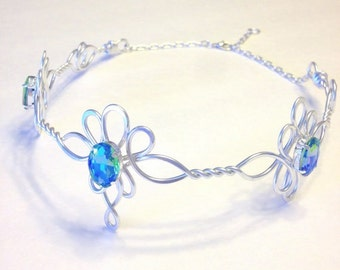 LOTE Circlet - Celtic Elven Medieval Rennaisance - Hand Wire Wrapped - Choose Your Own COLOR - Crown Tiara Bridal Wedding Hairpiece Boho