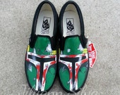 Black Boba Fett VANS - Made to Order - MENS / WOMENs -Star Wars