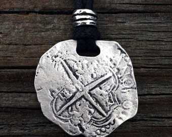 Piece of Eight Coin Pirate Pewter Pendant