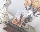 Vintage Prayer Card * Funeral * Cherubs * Ephemera