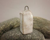 Less Is More...Minimalist Raku House Pendant...White