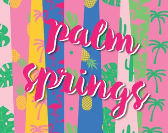New! Palm Springs Digital Paper Pack (Instant Download)