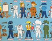 "Community Helpers Felt Board Set.  Includes 12"" boy & girl felt doll to dress.  Fireman, police officer, teacher, doctor, etc."