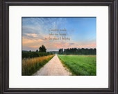 Take Me Home, Country Roads by John Denver Song Lyric Art Print, Music Inspired Art Print, Lyrical Wall Art