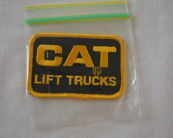 sale Vintage CAT LIFT TRUCKS embroidered fabric patch