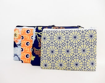 Zipper Pouch, Small Pouch, Gift for Her, Small Card Pouch, Fabric Pouch, Coin Purse, Change Pouch, Organizer Pouch, Holiday Gift Set