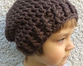 Brown Crocheted Slouch Hat 20/15