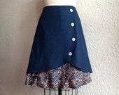 Lucille ruffle front skirt Sz 12