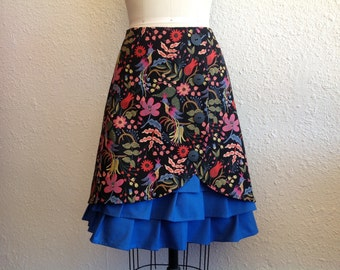 Josephine cotton ruffle front skirt Sz 10