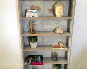HOLIDAY SALE Shabby chic distressed shelf shabby chic bookshelf,Vintage entryway shelf, farmhouse,