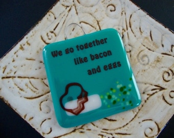 Bacon and Eggs Stand-up Plaque by Design4Soul