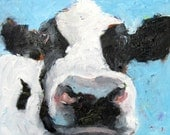 Cow Art, Farm Art, Cottage Chic, Cow Painting, Cow Art Print, Cow Portrait, Wall Art, Country Art, Free Shipping, Animal Wall Art