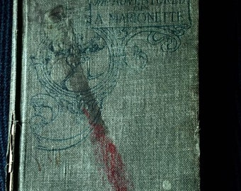 ANTIQUE Book -Pinocchio-The-Adventures-of-a-Marionette-c1904- Childrens book - story book