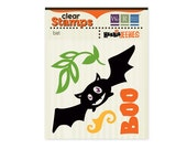 Halloween Clear Stamp Set Bat Boo Stamps