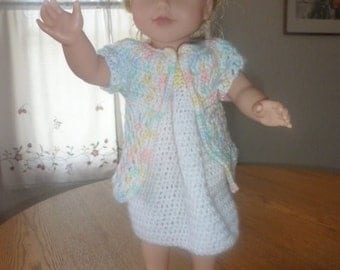 18 inch doll nightgown, robe and slippers
