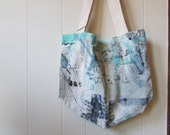 the hand painted tote .. one of a kind canvas tote bag