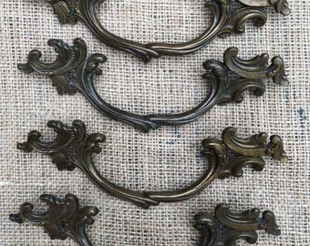 Restoration Hardware|French Provincial Furniture Pulls | Replacement Hardware | French Hardware | Upcycled Pulls |Vintage Antique Hardware