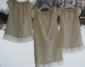 Pillow Case dress, cotton with lace