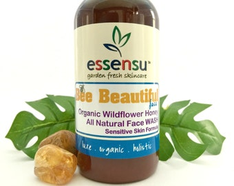 Bee Beautiful™ Face Sensitive Skin Organic Raw Wildflower Honey Face Wash | Moisturizing | Nourishing | All Natural | No Sulfates - 4 oz