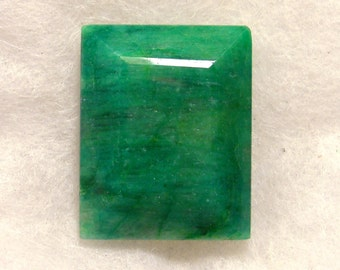 59 carat  .....  faceted emerald gemstone  ...  30 x 23 x 11 MM