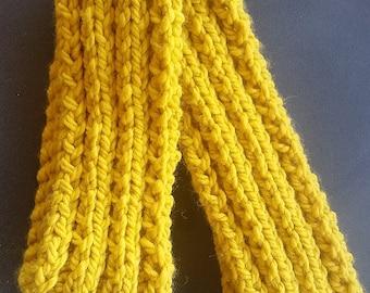 Mustard Yellow Rib Scarf