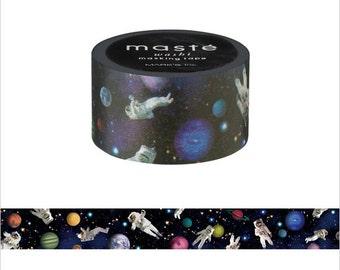 Mark's Maste Mini Washi Masking Tape - Vanilla Sky / Astronaut - 2015 Travel