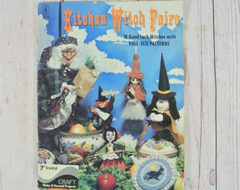 Kitchen Witch Faire Vintage Good Luck Witch Pattern Book with Full Size Patterns 1980