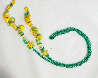 Eyeglass Chain, Lanyard, Lego, Green
