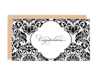 Congratulations Damaskl Enclosure Gift Card
