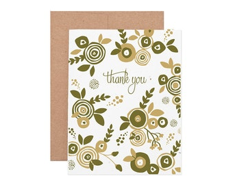 Boxed Cards - Flower Thank You Seeded Letterpress Cards - Boxed Set | Thank You Cards | Boxed Thank Yous | Plantable Cards
