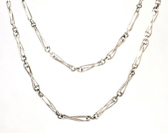 Handmade,one of a kind,recycled sterling silver,necklace,chain,Metalsmith Jewelry,silver necklace,