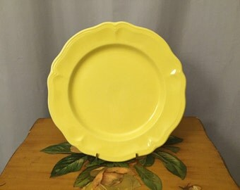 Yellow Plate Lemon Federalist Ironstone Vintage Made in Japan Replacement Dinner Plate