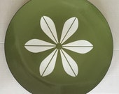 """Vintage Large 12"""" Cathrineholm lotus plate tray in avocado green ON SALE"""