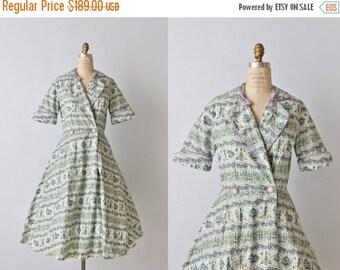 SALE Vintage 1950s Dress / 50s Novelty Print Dress / Day Dress / House Dress / Campus Girl