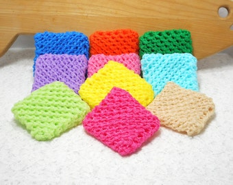 Pot Scrubbers, 10pk, nylon net, scour pad, home, kitchen, bath, cleaning aid, eco-smart, 20 colors. Please specify colors from list.
