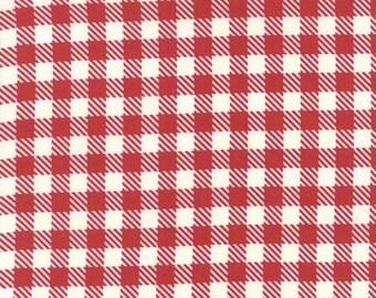 SUMMER SALE - 5 yards - Gingham in Red - Volume II - Sweetwater - Moda Fabrics (5616 12) - Mama Said Sew