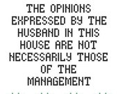 Subversive Cross Stitch PDF pattern: The Opinions Expressed...