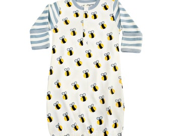Organic Bee Infant Gown